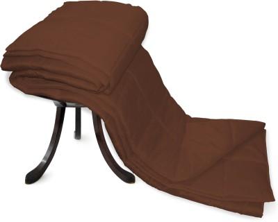 Zikrak Exim Plain Single Blanket Brown