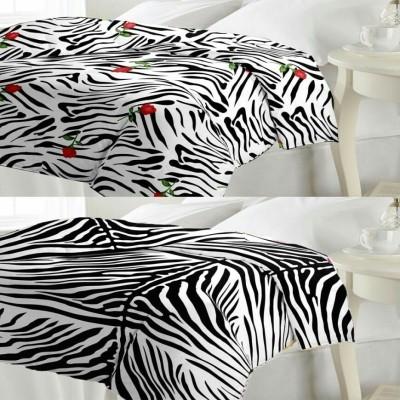 N decor Printed Single Dohar black and white