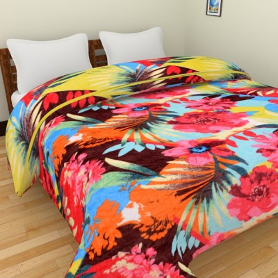 Spangle Floral Double Blanket Multicolor