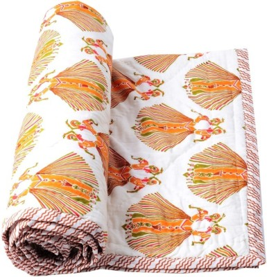 Samradhi Floral Single Quilts & Comforters Brown
