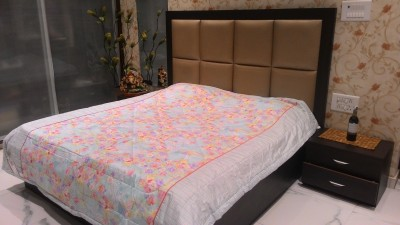 Tima Floral Double Quilts & Comforters Blue