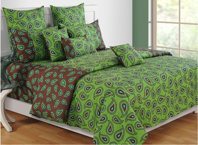 Swayam Paisley Double Quilts & Comforters Green, Blue, Brown