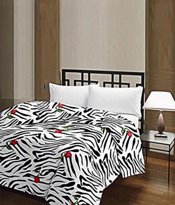 Shree balaji impex Striped Single Blanket multi colour