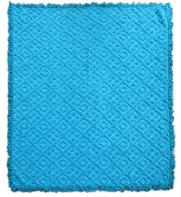 Saral Home Geometric Double Blanket Turquoise