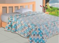Zyne Abstract Single Blanket Blue, Grey, Beige(1 Piece Blanket)