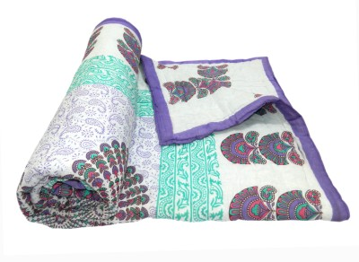 Shop Rajasthan Paisley, Printed Single Quilts & Comforters Purple