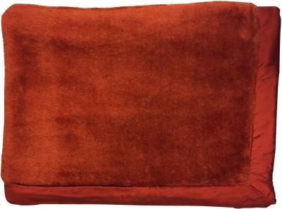 Wobbly Walk Plain Single Blanket Orange