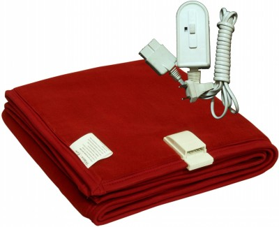 Winter Care Plain Single Electric Blanket Red