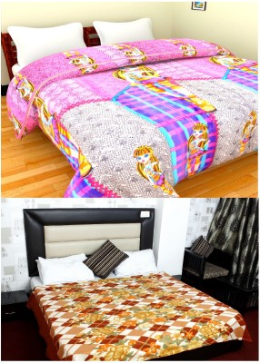 Feathers Abstract Double Blanket Multicolor