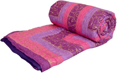 Ooltah Chashma Abstract Double Quilts & Comforters Purple