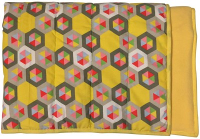 Wobbly Walk Abstract Single Blanket Yellow