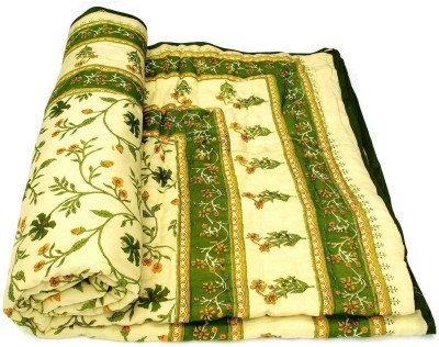 Sudharaj Paisley Double Blanket Green