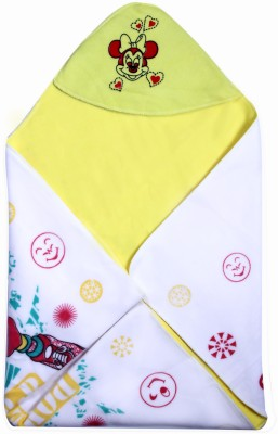Madhavs Cartoon Crib Blanket Yellow