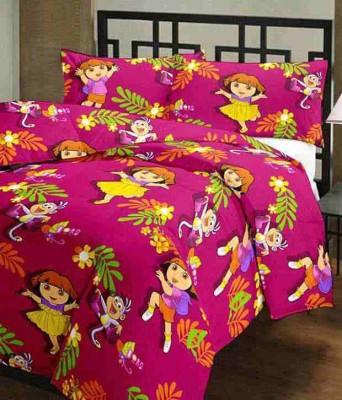 Feel Soft Cartoon Single Dohar Pink