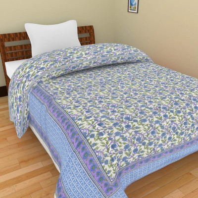 Shra Floral Single Quilts & Comforters Purple, Blue, Green