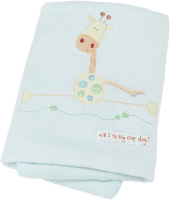 Lollipop Lane Animal Crib Blanket Blue