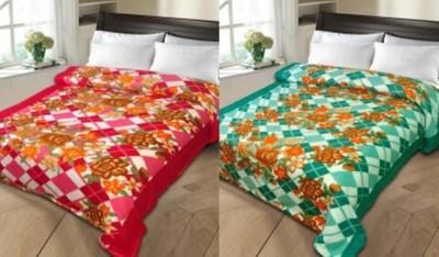 JJ DESIGN Checkered Double Blanket MULTI COLOURS