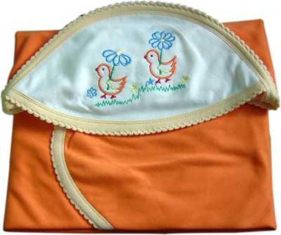 Tiny Care Plain Single Blanket Orange