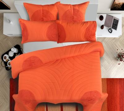 Shahenaz Home Shop Geometric King Quilts & Comforters Orange