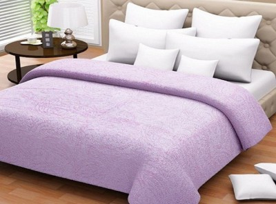 Wrap Paisley Double Blanket Purple