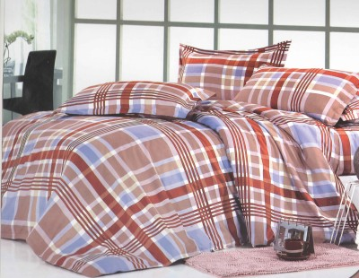 Skilin Checkered Double Quilts & Comforters Multicolor