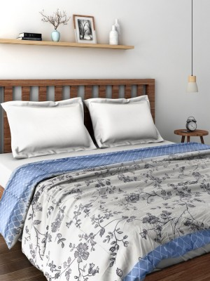 Raymond Floral Double Quilts & Comforters Grey(Quilt)