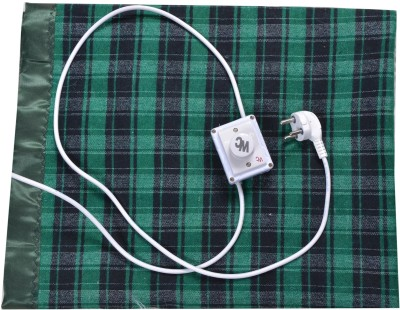 Winter Care Checkered Single Electric Blanket Green, Black