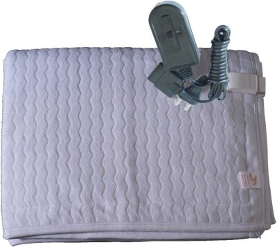 Winter Care Embroidered Single Electric Blanket White