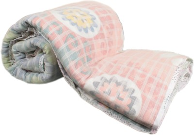 My Little Lambs Abstract Single Quilts & Comforters Multicolor