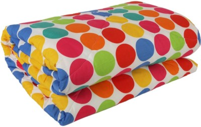 Esoft Polka Single Quilts & Comforters Multicolor
