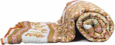 Jaipurtextilehub Floral Single Quilts & Comforters Yellow