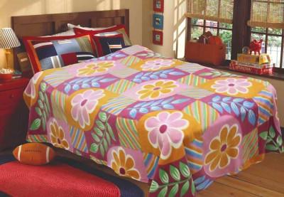 R home Floral Double Blanket Multicolour