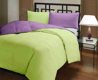 Featherlite Plain Single Duvet Light Green, Purple