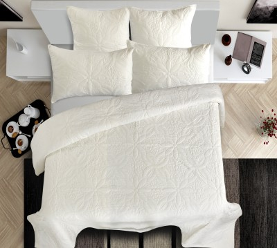 Shahenaz Home Shop Polka King Quilts & Comforters Offwhite