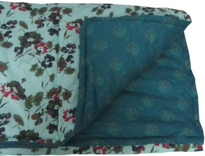 Art-Tickles Floral Single Quilts & Comforters Green