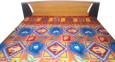 Aashri Floral Double Blanket Blue