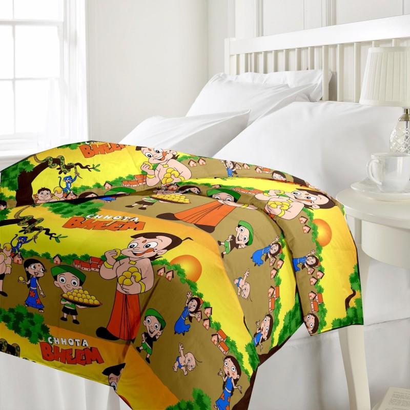 eCraftIndia Cartoon Single Blanket Multicolor(AC Dohar, One Single Bed Reversible...