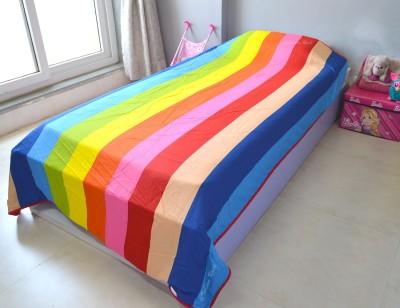 Indian Rack Striped Single Dohar Multicolor
