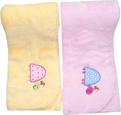 Kandy Floss Embroidered Single Blanket Yellow And Pink