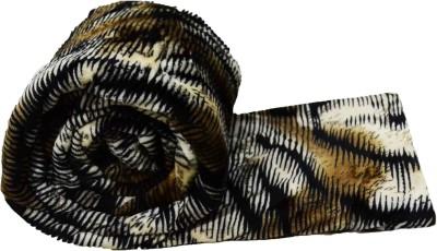 JK Handloom Floral Double Blanket Brown