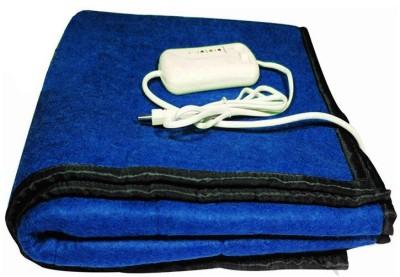 LeoSpark Plain Single Electric Blanket Blue