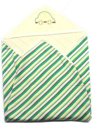Ahad Striped Single Blanket Green