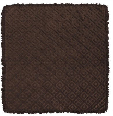 Saral Home Geometric Double Blanket Brown