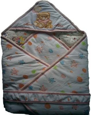 MeeMee Cartoon Single Hooded Baby Blanket Multicolor