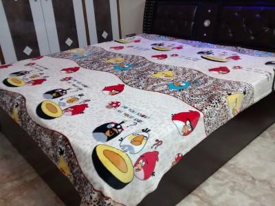 ShwetaInternational Cartoon Double Quilts & Comforters Cream