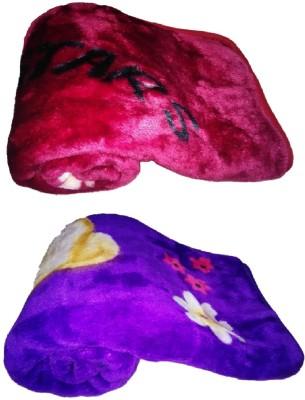 Light Gear Luxury Supersoft Cozy Printed Crib Blanket Purple, Blue