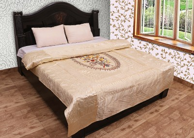Chelsi Embroidered Double Quilts & Comforters Yellow