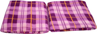 Magical Checkered Single Blanket Purple, Purple