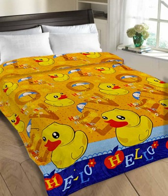 Tex n Craft Printed Double Blanket Yellow