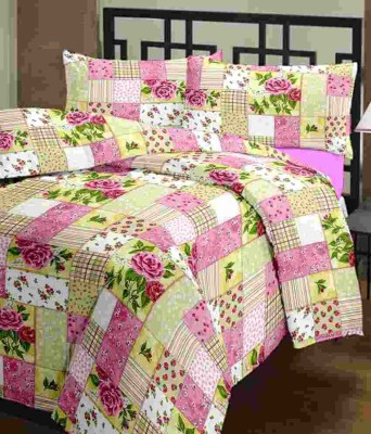 Ayushi Craft & Fashions Floral Double Blanket Multicolor